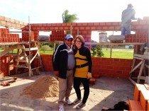Bauleiter Francisco und Karina
